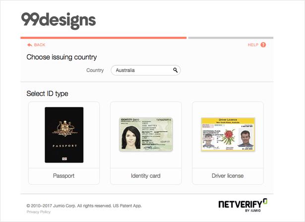 وریفای سایت 99designs پاسپورت