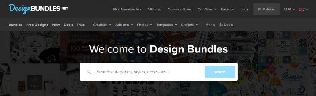 سایت Design Bundles
