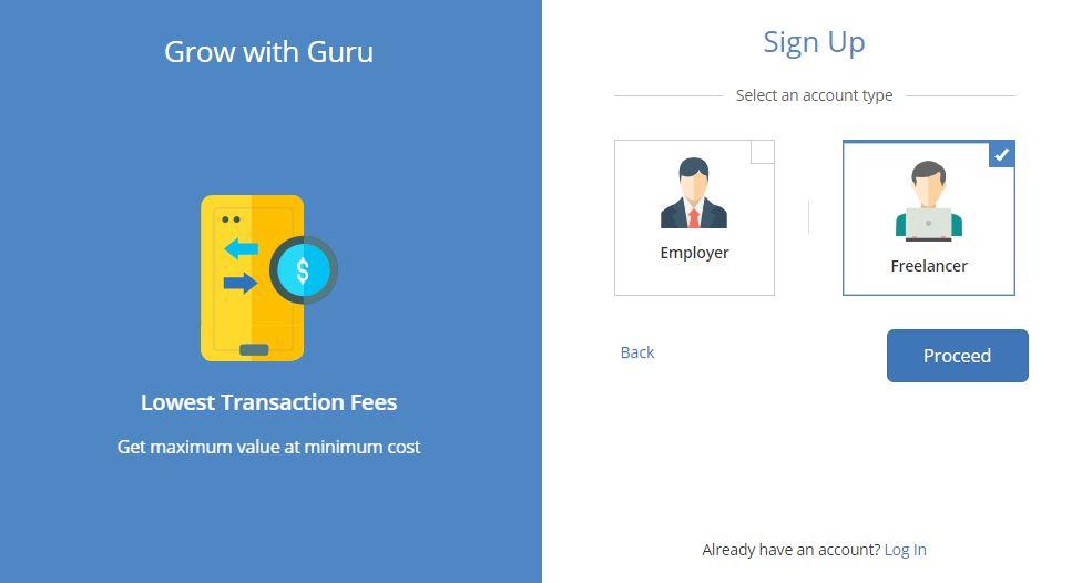 درامد ارزی از سایت Guru ثبت نام
