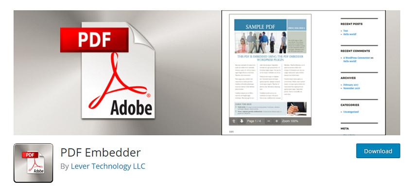 پلاگین PDF وردپرس PDF Embedder