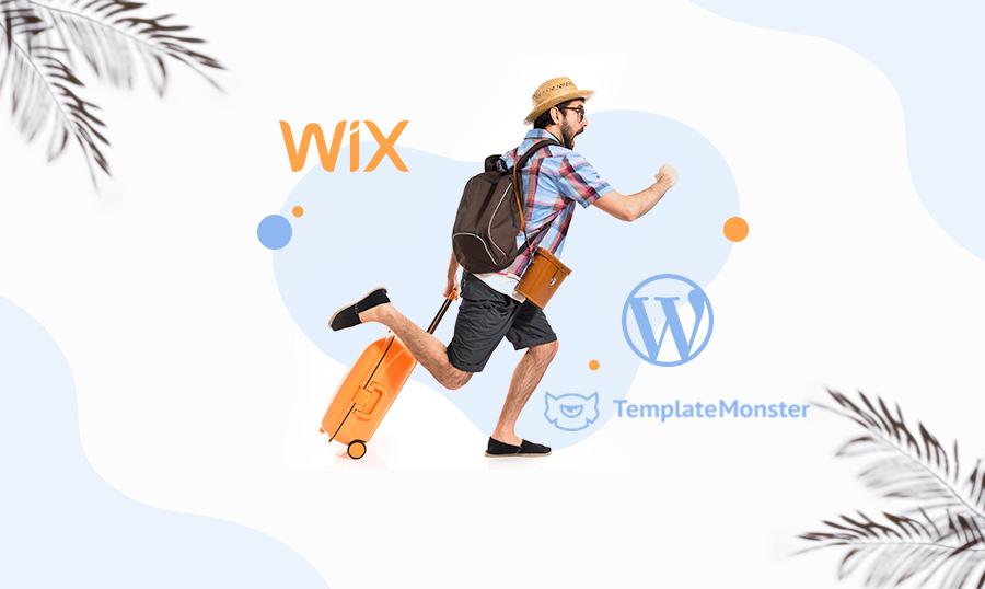 طرحی سایت با Wix یا TemplateMonster کدام