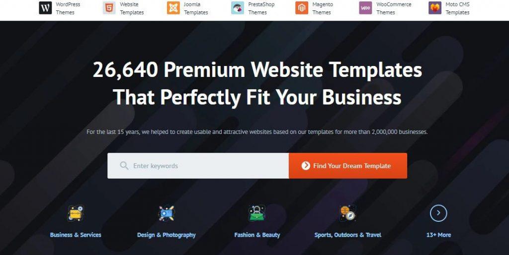 طرحی سایت با Wix یا TemplateMonster