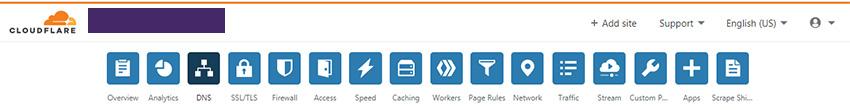 تنظیمات ت راهنمای استفاده از Cloudflare (کلودفر)