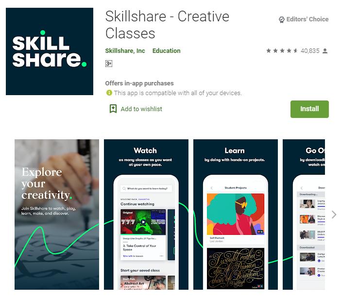 Skillshare و خرید اکانت و کسب درآمد دلاری از سایت