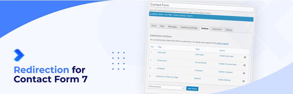 افزونه های Contact form 7 ریدایرکت