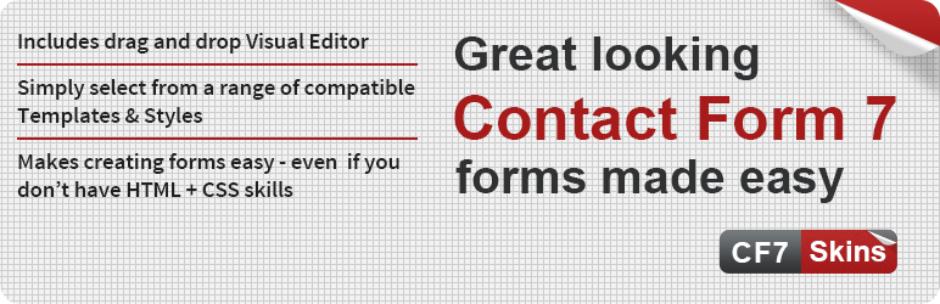 افزونه های Contact form 7 -Skins