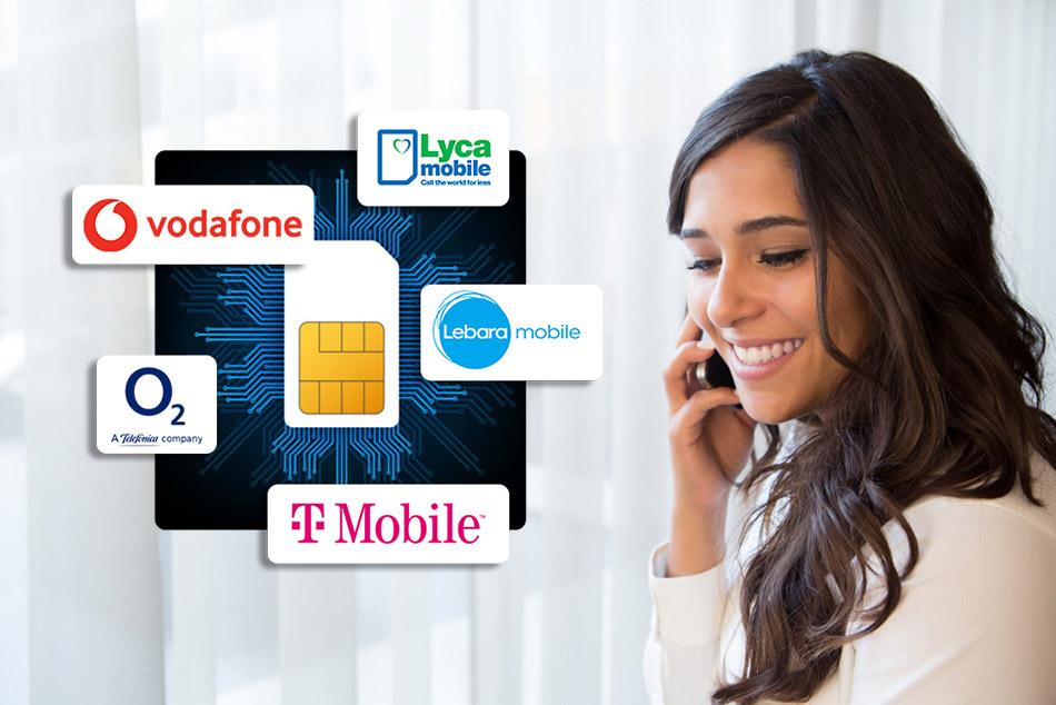 خدمات فروش سیم کارت های بین المللی اروپا