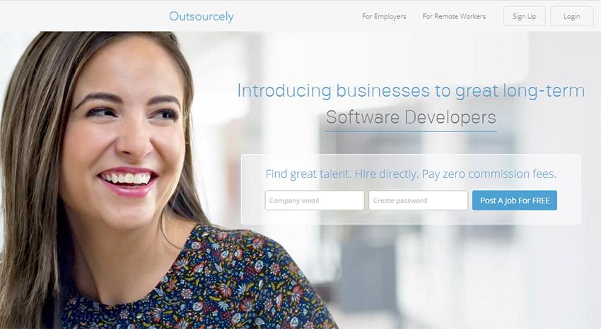 یافتن کار دورکاری در سایت outsourcely