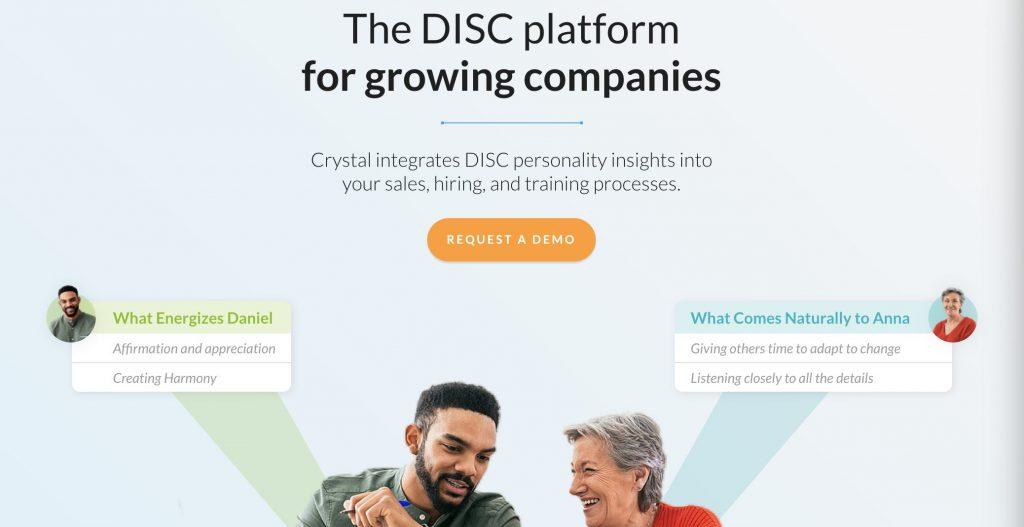 Crystal ابزارهای بازاریابی در لینکدین