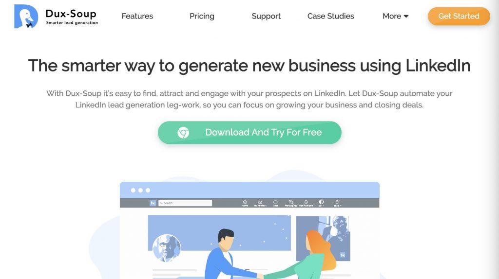 Dux-Soup ابزارهای بازاریابی در لینکدین
