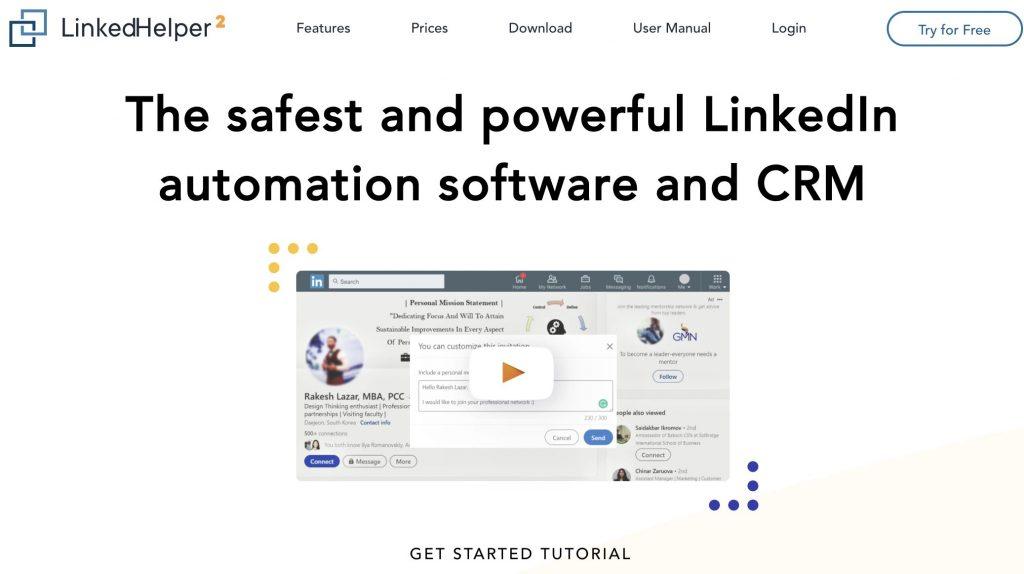 Linked-Helper- ابزارهای بازاریابی در لینکدین