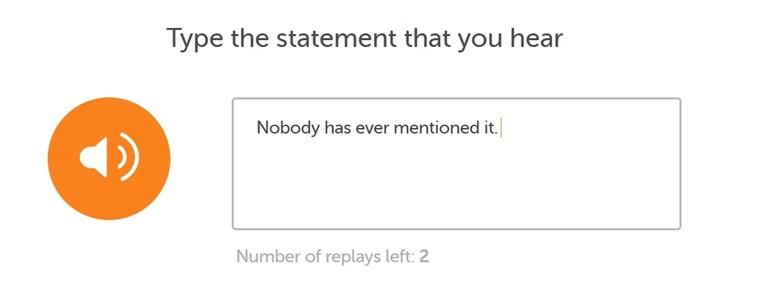 جمله قبولی در آزمون Duolingo