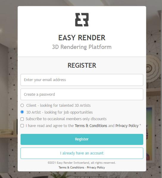 درآمد ارزی از سایت Easyrender