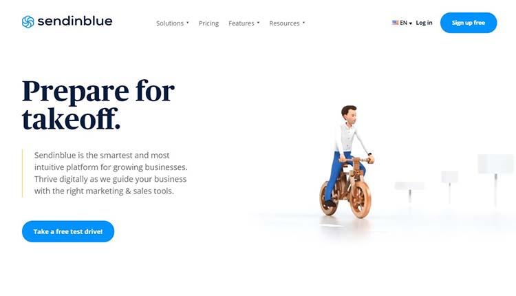 1 سایت Sendinblue ، بهترین ارائه دهنده ی خدمات بازاریابی برای مشاغل کوچک
